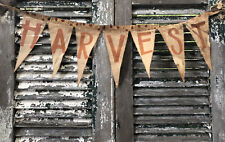 New listing Primitive Fall Harvest Banner Pennant flag Pumpkin Porch Mantel Door Farmhouse
