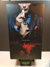 THREEZERO HANNIBAL 12 IN DR HANNIBAL LECTER AF ACTION FIGURE 1/6 SCALE IN HAND