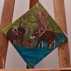 The Trio Family Art 100%hand painted acrylic & oil on canvas painting with FRAME