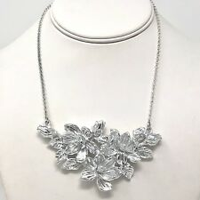 Arthur Court Necklace Aluminium Magnolia 16 to 18in Adjusts Choker Jewelry
