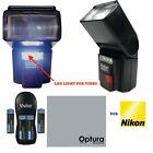 VIVITAR Photo Professional Flash Kit for NIKON DSLR CAMERAS  RECHARGEABLE BATT