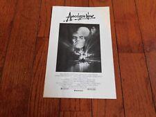 Apocalypse Now Movie Program Frances Ford Coppola Marlon Brando (Screening Film)