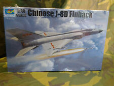 TRUMPETER CHINESE J-8D FINBACK AIRCRAFT PLASTIC MODEL KIT