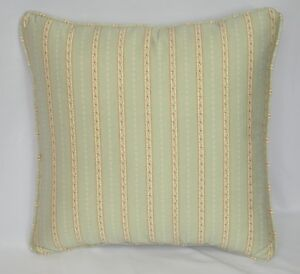 Custom Accent Pillow made w Ralph Lauren Coco Palm Floral Stripe Fabric 16x16