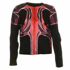 GUCCI Jacket Black Red & Purple Leather & Suede Size 42 / UK 10 AR 200