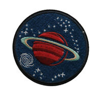 Saturn Iron / Sew On Embroidered Patch Nasa planet space Badge  star Embroidery