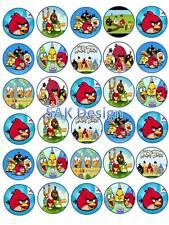 30 x Angry Bird SU RISO/wafer commestibile carta DECORAZIONI PER TORTA