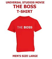 NEW RED T-SHIRT UNIVERSAL STUDIOS MOVIE THE BOSS MEN'S L MELISSA MCCARTHY 2016
