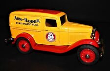 1932 Ford Panel Delivery Coin Bank with Key ERTL Arm & Hammer Die Cast 1/25