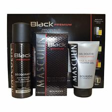 Gift Set Bourjois Masculin Black Premium Men 100ml EDT Deodorant Shower Gel