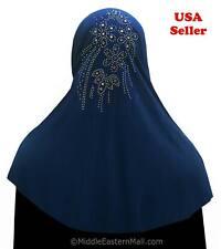 Yasmine Khimar #3 Royal Blue One Piece Slip On Scarf Long Amira Hijab 1 piece