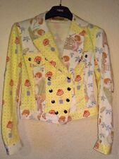 NUOVO senza etichetta sorprendente JOHN GALLIANO Ladies Jacket-Taglia UK 12