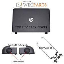 HP 15-R205NL Top Lid Rear Cover +  Hinges L & R + Screw Cover Rubber Black