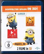 """""""ICH EINFACH UNVERBESSERLICH 1 + 2"""" - Beide Filme in 3D + 2D - BLU RAY - 4-Disc"""