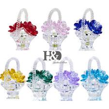 Crystal Basket Flower Figurines Cut Glass Ornaments Wedding Gifts Home Decor