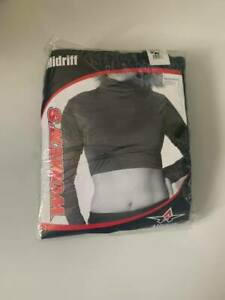 NIP Adult Alleson Black Athletic Cheerleading Midriff New In Package  (G24)