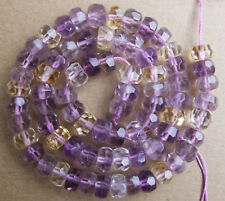 """6x8mm Natural Ametrine Faceted Rondelle Loose Beads 15.5"""""""