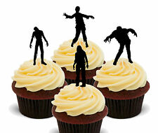 Zombies - Halloween Edible Cup Cake Toppers, Standup Fairy Bun Decorations