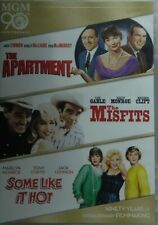 3 Classics Some Like It Hot The Misfits The Apartment Marilyn Monroe Sealed