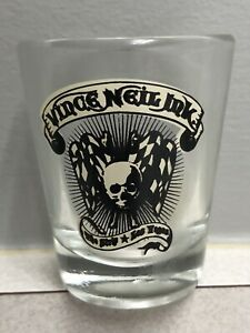 Vince Neil shotglass mint unused Vegas tattoo ink shop Motley Crue shot glass