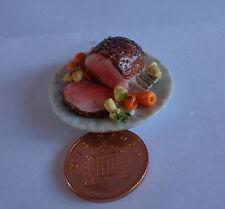 1:12 Scale Roast Rib Of Beef slices