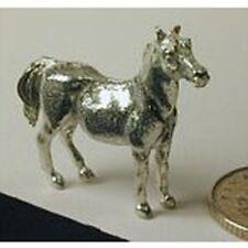 Dollhouse Miniature Polished Pewter Mare Figurine