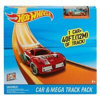Hot Wheels Car & Mega Track Pack Boys Racing Kids Builder Toy Gift - 40 Feet!