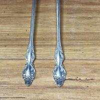 "Oneida 1881 Rogers Silverplate - Baroque Rose, 1967 - 7 3/8"" Iced Tea Spoons (2)"