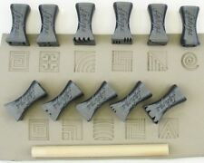 Pottery texturing ceramic clay tools: Rélyéf set of stamps 15 x 15 mm No. 2