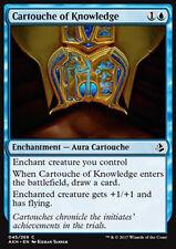 MTG 4x CARTOUCHE OF KNOWLEDGE - CARTIGLIO DELLA CONOSCENZA - AKH - MAGIC