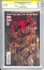 THE AMAZING SPIDER-MAN THE MOVIE CGC SS 9.8 STAN LEE  QUOTE WITH GREAT POWER...