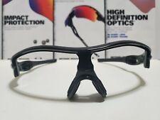 Oakley Radar XL Polished Black Frame w/ Satin Silver Icons Display Model New! A