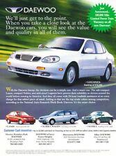 2000 2001 Daewoo Leganza Lanos Original Advertisement Print Art Car Ad A49