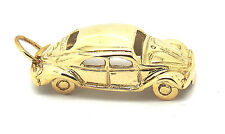 9ct or jaune hallmarked vw beetle pendentif