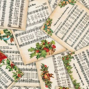 Christmas Music Fabric BTY, Letters Vintage Christmas, SRKD20461200