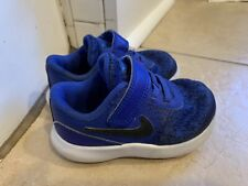 Nike Flex Contact Baby Toddler Girls Blue Shoes size 6 C