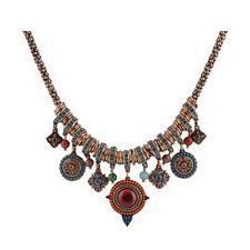 New Gypsy Ethnic Tribal Turkish Boho Chain Bid Necklace Tassel Pendant Fringe YA