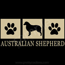 Australian Shepherd Silhouette T-Shirt - Men Women Youth Tank, Short Long Sleeve