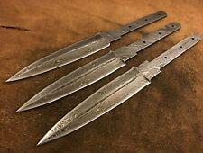 Lot of 3 Handmade Damascus Steel Dagger Blank Blade-Medieval Dagger-Klinge-B208