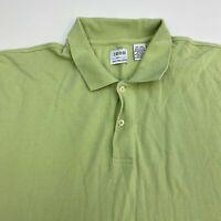 Izod Polo Shirt Men's Size 2XL XXL Short Sleeve Green Casual 100% Pima Cotton