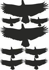 1 Satz Vogel Vögel Aufkleber Wandtattoo Wintergarten Scheibe Glas Tür 8 Vögel