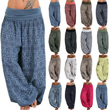Women Alibaba Loose Hareem Leggings Harem Trousers Gypsy Hippie Boho Yoga Pants