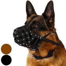 Leather Dog Muzzle German Shepherd Basket Black Brown