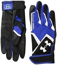 Under Armour CleanUp Batting Gloves, Black & Blue