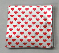 "Valentines Heart Candy Foil Wrappers Confectionery Foil 500 ct 3""x3"" 4x4"" 6""x6"""