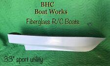 Fiberglass model rc boat hull