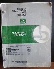 John Deere Officina Manuale 7610 + 7710 + 7810 Riparazione