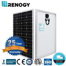 NEW Renogy 100W Watt 12V Monocrystalline Solar Panel Off Grid Power Home Garden