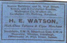 Matchbox Label H.E. Watson Progressive Match(?)