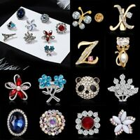 Charm Flower Butterfly Crystal Brooch Pin Collar Women Jewelry Wedding Party New